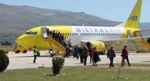 Tanto a rota de Mostar para Trieste e mais tarde para a conexão Bari será operado pela Air Mistral. A foto decorre de um dos voos fretados que precederam próximos Mistral rotas regulares.