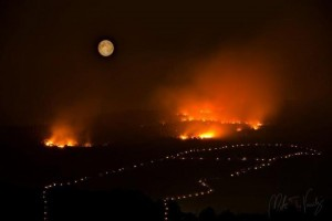 Grandes incêndios queimam na colina das aparições