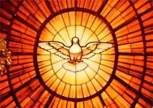 o Espírito Santo universalmente representado por um pombo