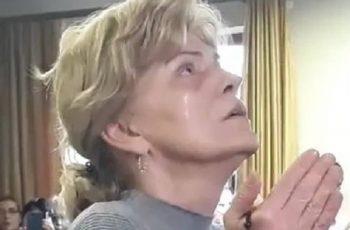 Nossa Senhora triste e Mirjana chora durante aparição do dia 02/02/2019
